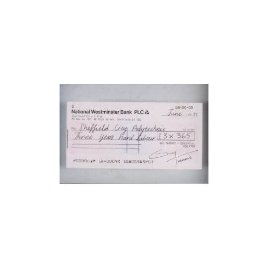 Conceptual Cheque/Check - 1992