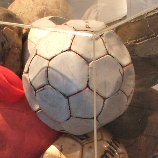 Old balls collected from various school roofs