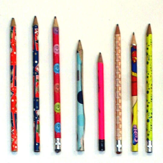Boys and girls often use different types of pencils